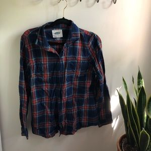 Blue and red flannel